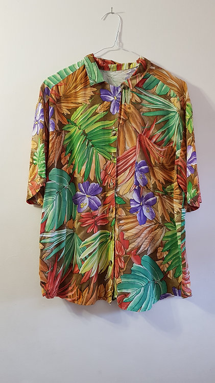 Marks and Spencer. Floral shirt. Size 12.