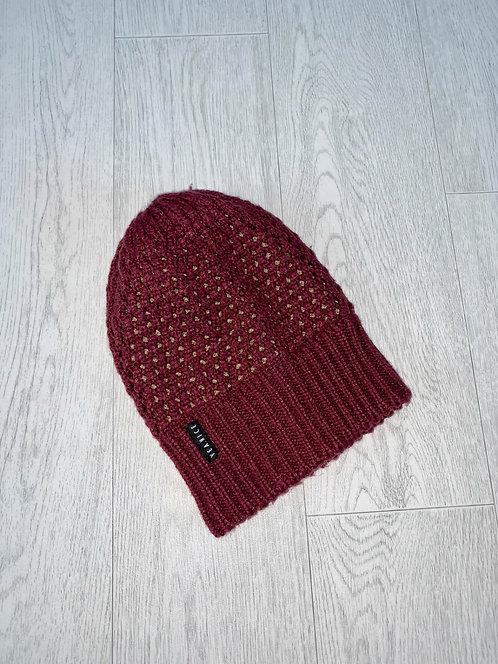 ♦️ Vea.nice burgundy winter hat