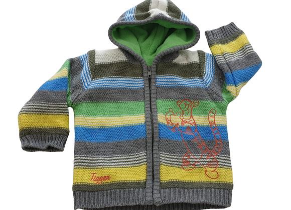 Disney striped knit hoody. 12-18m