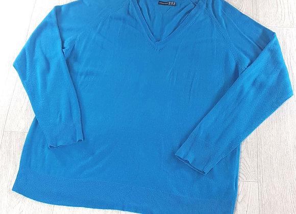 ATMOSPHERE Teal blue v-neck sweater. Size 20