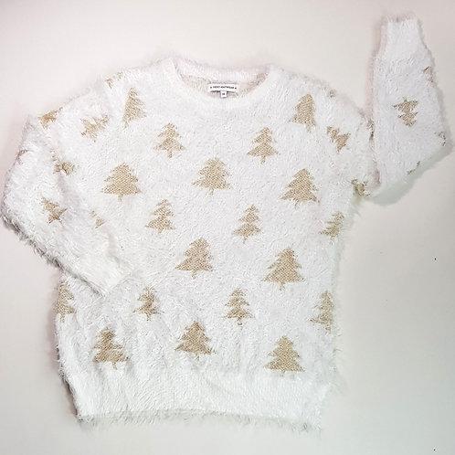 Next white fluffy Christmas Tree jumper. Size 14