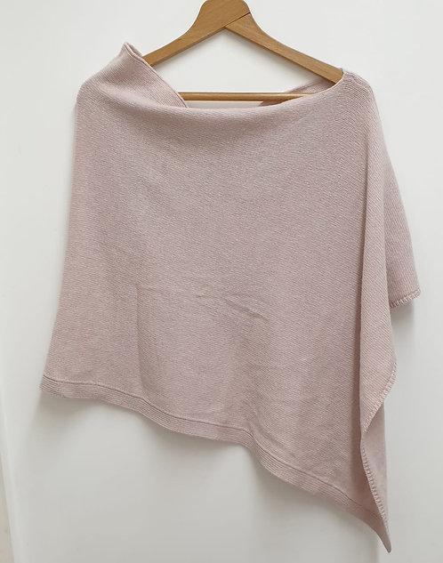 Jigsaw pale pink poncho. One size