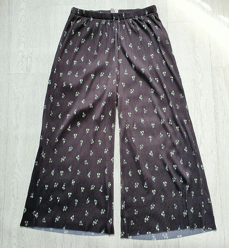 🐺Asos crinkled wide leg trousers. Size 14