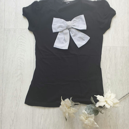 🧡Asos black top with bow. Size 8
