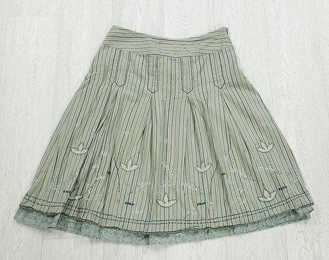 🏳Next green A-line skirt. Size 10