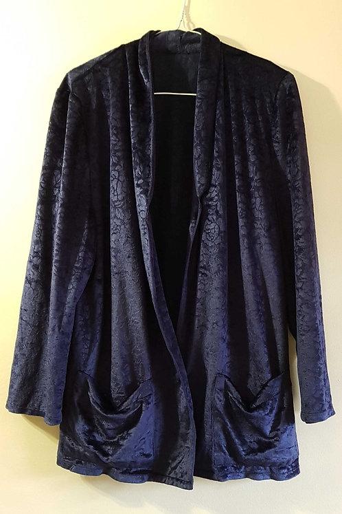Dark blue soft womens jacket