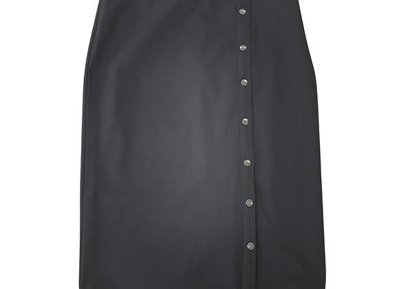 Black button front skirt.  Uk 18