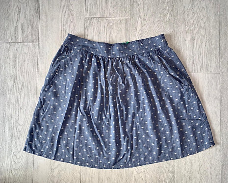 ♦️United Colors of Benetton blue skirt. Size M