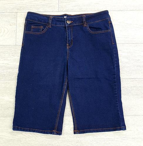 Blue denim shorts. Uk 12