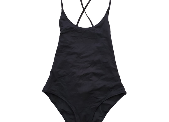 H&M Black swimsuit with corset back. Eu 36
