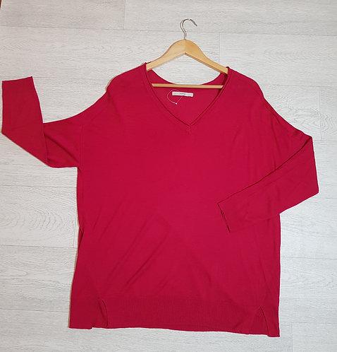 🔴George fuchsia long sleeve top size 14