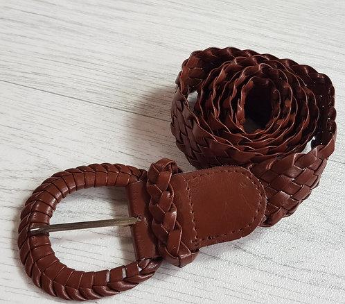 Brown wicker look belt. Size M