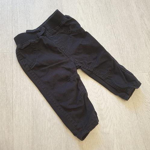 🧩George black trousers. 3-6m