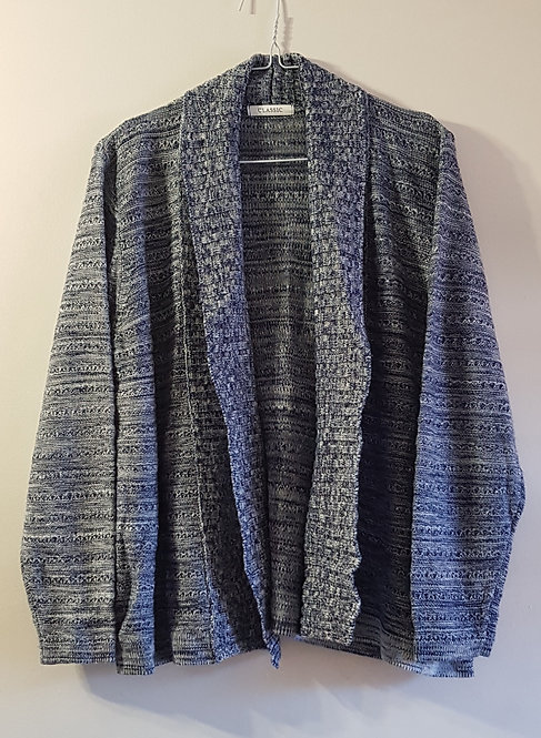 MARKS AND SPENCER Classic blue knit cardigan. Size 16