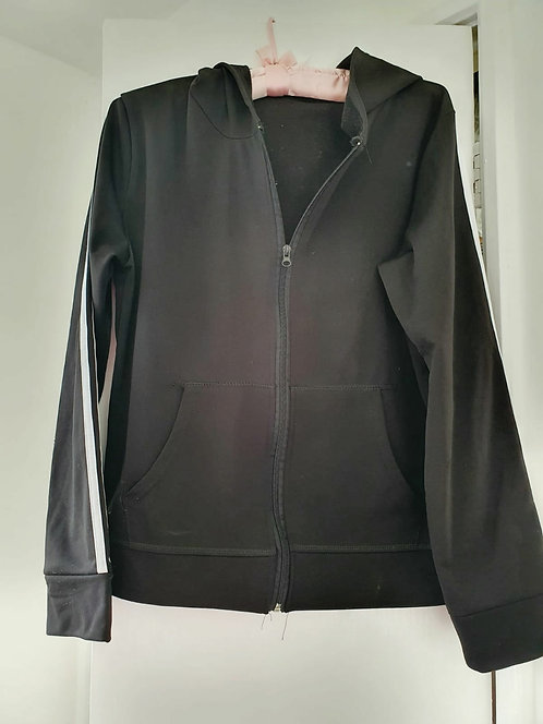 Black zip sweat top. Size L/XL NWOT