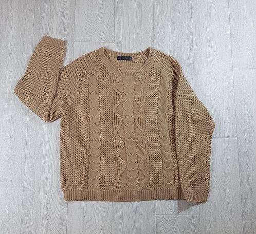 🦄M&S beige chunky knit jumper size 18