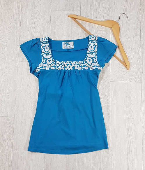 ◾New Look turquoise tie back top. Size 8