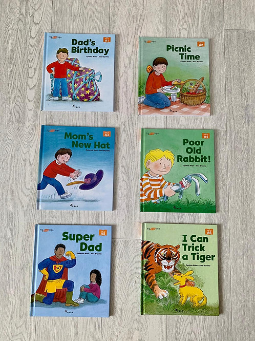 🌗Set of 6 first reader books A1-A6