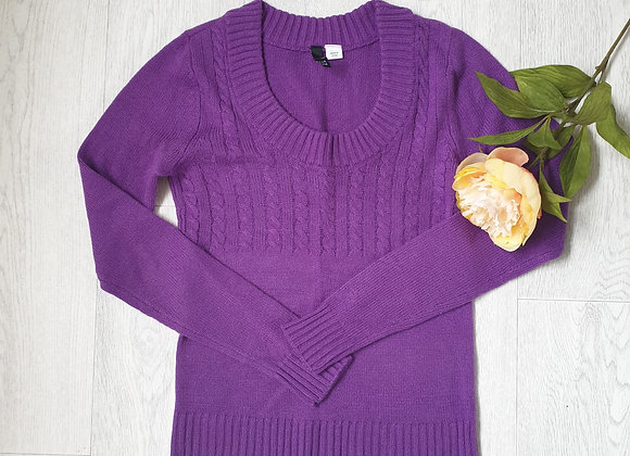 🧡Divided by H&M purple knit sweater. Size 8