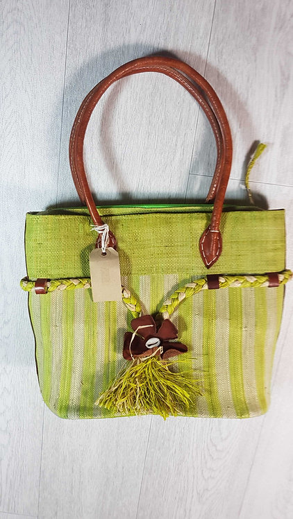◾Museum Selection green handbag. Bag without handle is 30x26cm aprox