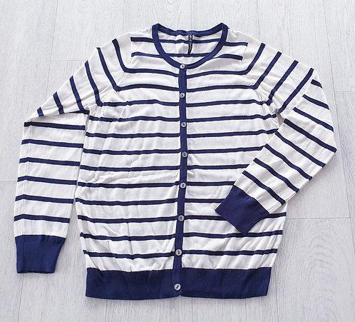 Capsule white/navy cardigan. Uk 8-10