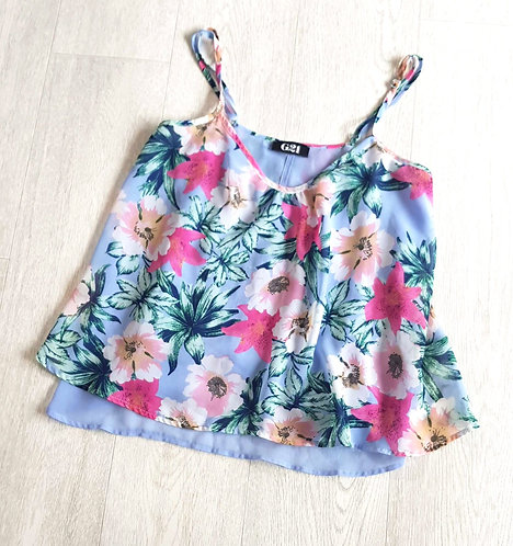George G21 floral layered camisole top. Size 8