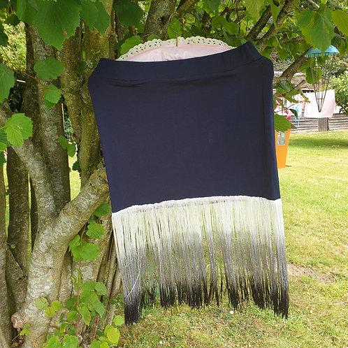 🌼Boohoo black tassels skirt