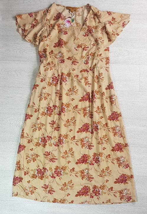 April Cornell floral dress. Size Small