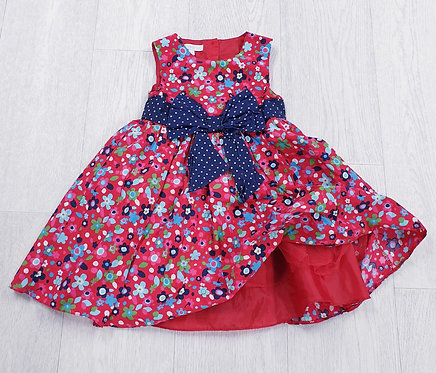 Bluezoo red dress with bow. 18-24m