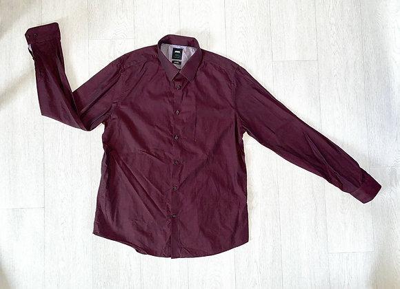 Burton slim fit burgundy shirt. Size L