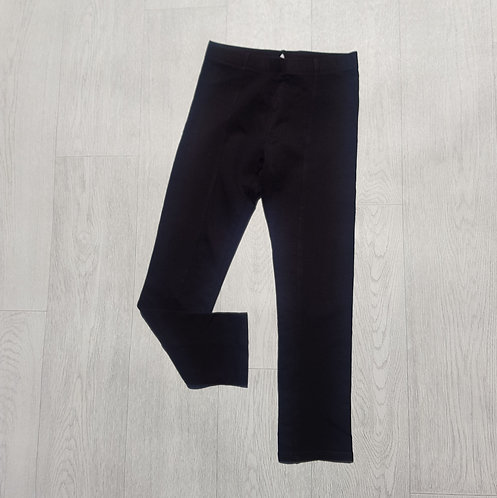 H&M black leggings with front seam. 9-10yrs