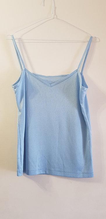 Marks and Spencer. Blue vest top. Size 10-12.