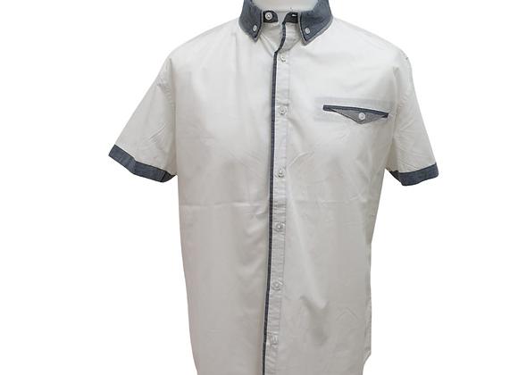 Cedarwood State white short sleeved shirt. Size 2XL