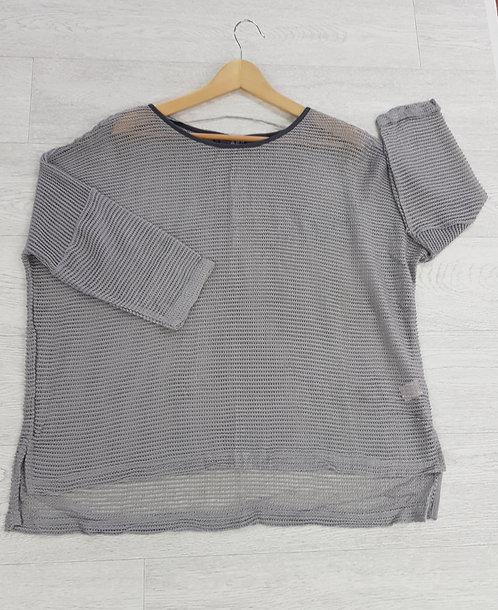🍁Atmosphere grey net look knit top size 16