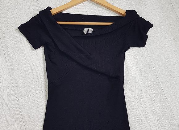 🔷️ASOS black cross wrap t-shirt size 10