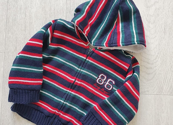 🐺Early Days striped thick hoody. 6-9m