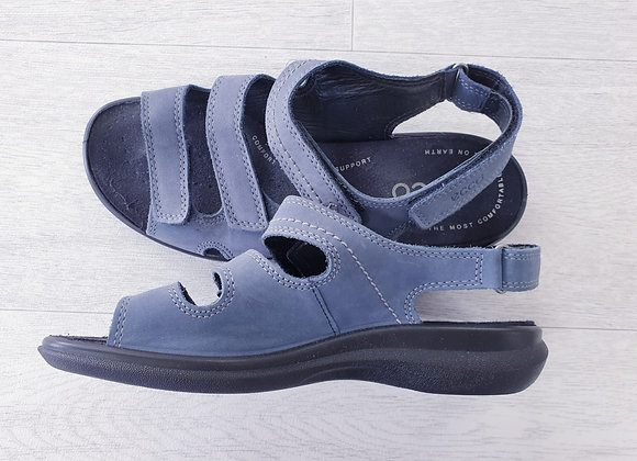 Ecco blue strap sandals with arch support. Eu 38 NWOT