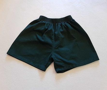 Green P.E shorts. Size 26/28
