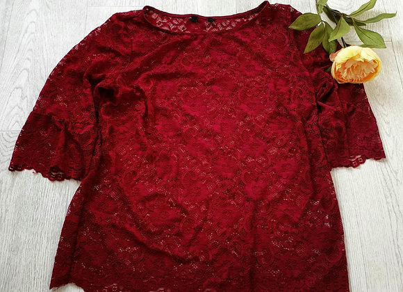 Cranberry lace top