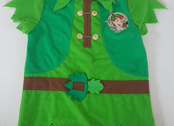 DISNEY. Green Peter Pan top. Size 7-8 years. Keep away from fire.