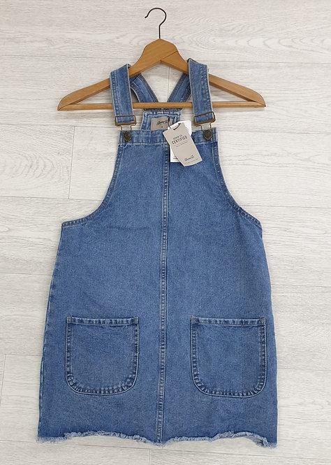 Denim Co blue dungaree dress. Uk 8 NWT