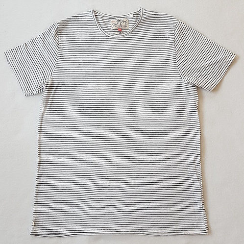 NEXT. White striped short sleeve top.