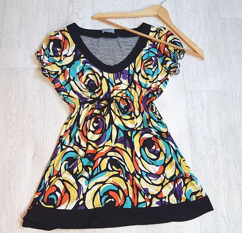 🔴Per Una abstract multicolored dress