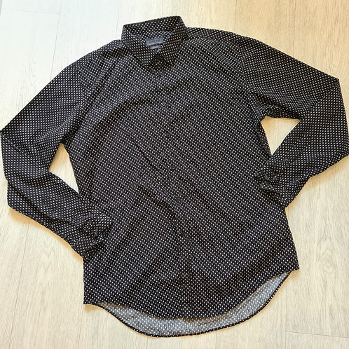 🔲Zara Man black patterned shirt. Size XL