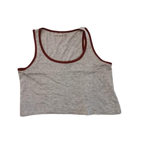 Bershka grey crop vest top. Size S