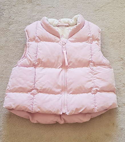 MARKS AND SPENCER Pink thick lined gilet. 3-6 months.