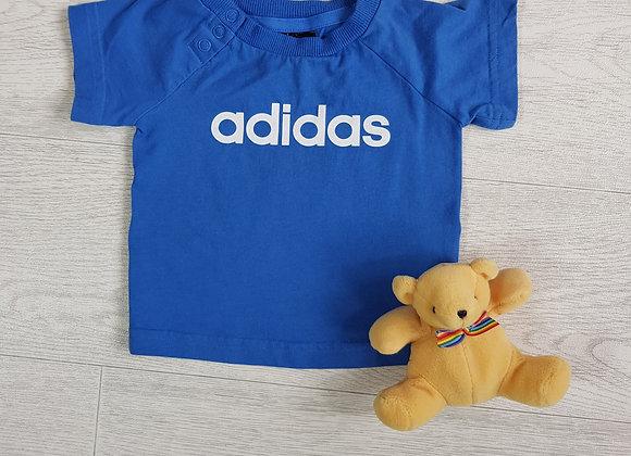 Adidas blue tshirt. 0-3m