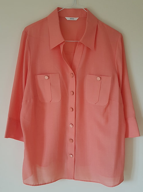 Marks and Spencer. Salmon blouse. Size 16.