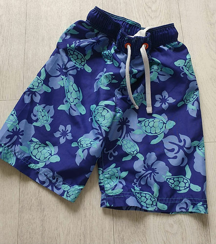 🐺M&S blue turtle swim shorts. 3-4yrs