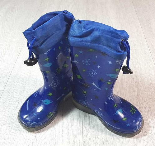 ◽Blue Wellington boots. Size 4